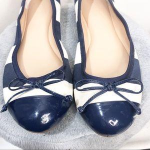 Banana Republic Shoes - Banana Republic Navy Blue and White Stripe Flats